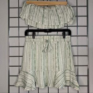 F21 Two-Piece Tube Top & Skirt Set